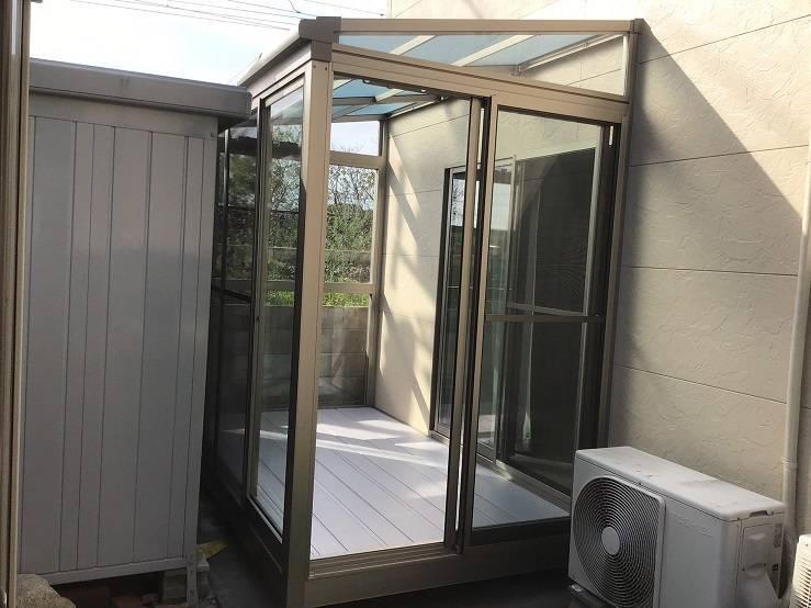 有明トーヨーの突然の雨~洗濯物どうする❓の施工後の写真1