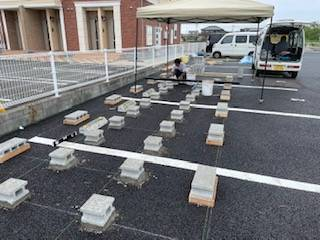 有明トーヨーのレンタル倉庫~完成・・の施工前の写真1