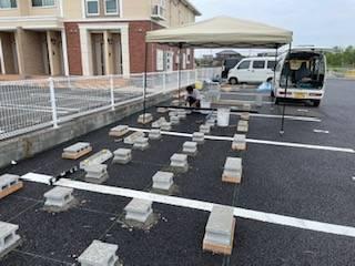 有明トーヨーのレンタル倉庫~完成・・の施工前の写真2