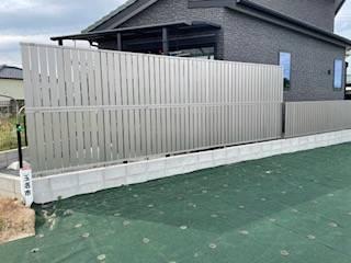 有明トーヨーの外から見えにくい外柵ってないかな~の施工後の写真1
