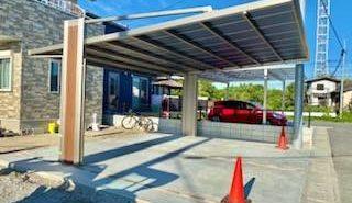 施工事例:柱の少ないカーポートってない?